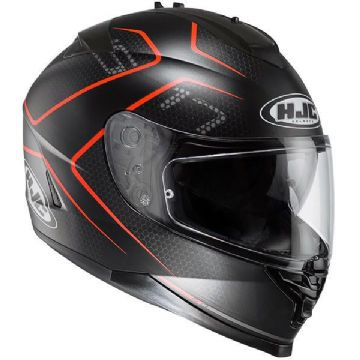 HJC IS-17 Lank Black Red Full Face Motorcycle Helmet - Free Pinlock